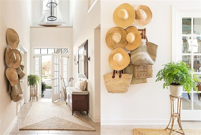 Hats as Wall Decors for Interior Design